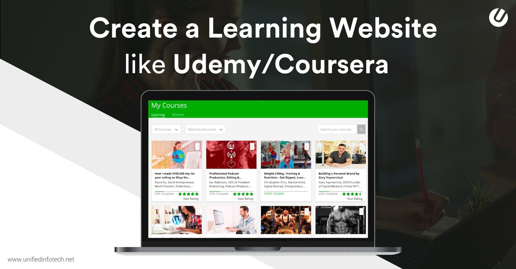 建立Udemy或Coursera等电子学习网站的7种简便方法